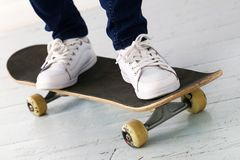 Girl on the skateboard Royalty Free Stock Photos
