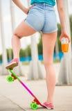 Girl on skateboard Royalty Free Stock Photo