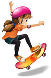 A girl skateboarding Stock Photography