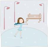The girl skates Royalty Free Stock Image