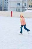 Girl skates Stock Images