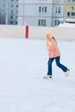 Girl skates Stock Images