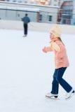 Girl skates Royalty Free Stock Photos