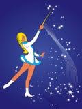 Girl on skates. Royalty Free Stock Image