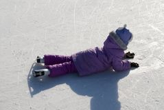 Girl on skates. Stock Photo