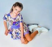 Girl on skates Royalty Free Stock Photo