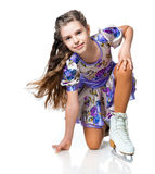 Girl on skates Stock Photo
