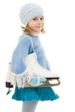 A girl with skates Stock Photos
