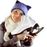 Girl with skates Stock Image