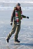 Girl with skates. Stock Image