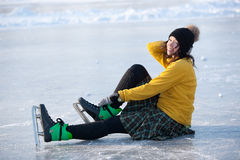 Girl with skates. Stock Photography