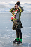 Girl with skates. Stock Images