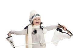 Girl skates Stock Photos