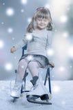 Girl skates Stock Image
