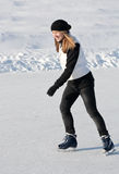 Girl skating Royalty Free Stock Photo