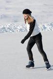 Girl skating Royalty Free Stock Photo