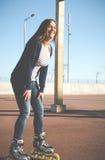 Girl skating Stock Photos