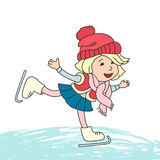 Girl skating on ice. Stock Images