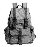 Girl Sketch Backpack. Pencil style of Girl Sketch Backpack in BW Royalty Free Stock Image