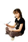 Girl sketching 1 Stock Photos