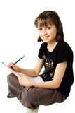 Girl Sketching 2 Stock Photography