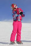 Girl with ski Royalty Free Stock Images
