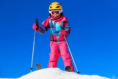 Girl on the ski Royalty Free Stock Image