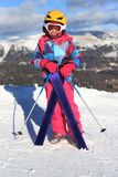 Girl with ski Stock Photography