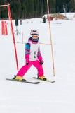 Girl on the ski Royalty Free Stock Photography