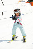Girl in ski lift Stock Image