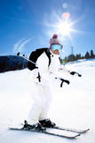 Girl On the Ski Stock Photos