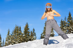 Girl on ski vacation Royalty Free Stock Photo