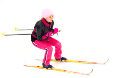 Girl skiing Royalty Free Stock Image