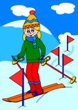Girl skiing Royalty Free Stock Photos