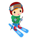 A girl skiing Royalty Free Stock Photography