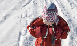 Girl skiing Stock Photos