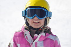 Girl is skiing Royalty Free Stock Images