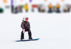 Girl skiing winter Stock Photo