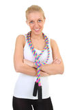 Girl with skipping rope Stock Image