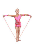 Girl with skipping rope Stock Photography