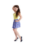 Girl in a skirt Royalty Free Stock Photo