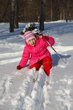 Girl on skis Royalty Free Stock Images