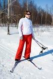 Girl on skis Royalty Free Stock Photos