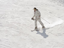The girl on skis Stock Photo