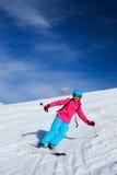 Girl on skis. Stock Photos