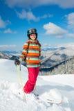 Girl on skis. Stock Photography