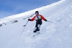 The girl on skis Stock Photography