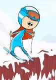 The girl on skis. Stock Photo
