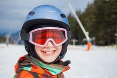 Girl on skis Stock Photography