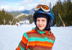 Girl on skis. Stock Image